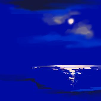 晚上的海灘
