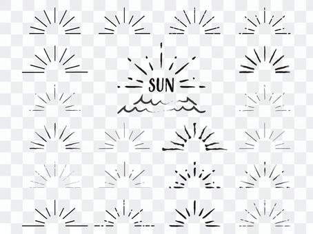 Simple sun material set (black)
