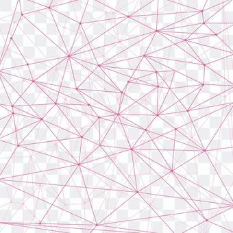 幾何線相交並連接粉紅色