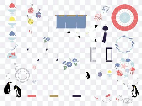 Summer fashionable Japanese design material set 03
