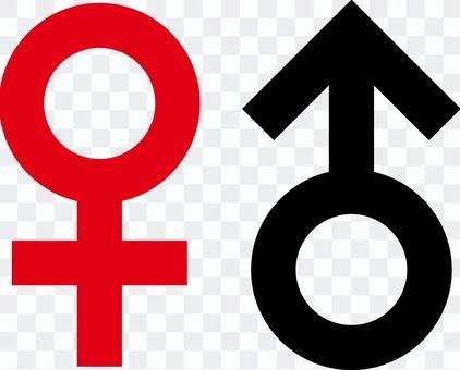 男性和女性的象形圖f