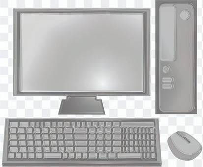 Desktop personal computer gray processing