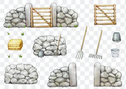 Fence door set illustration