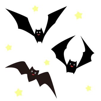 차 째인 박쥐 3 마리