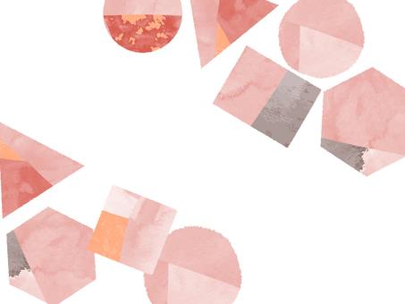 對象框架與水彩匹配粉紅色