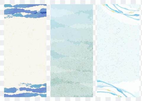 Japanese style material 060 Cool Japanese paper background set