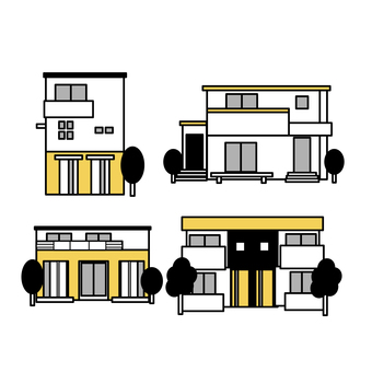 Two-family house set (simple)