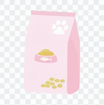 Cat - cat food with bag
