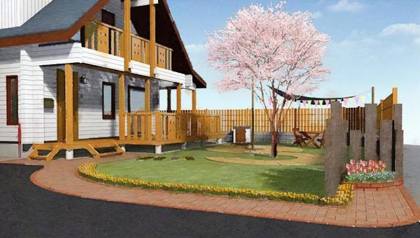 有花園的木屋
