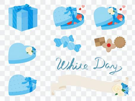 A simple white day motif