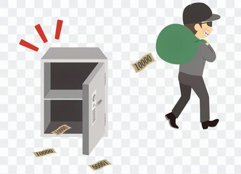 小偷偷錢逃跑