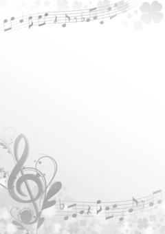 Monochrome spring music frame