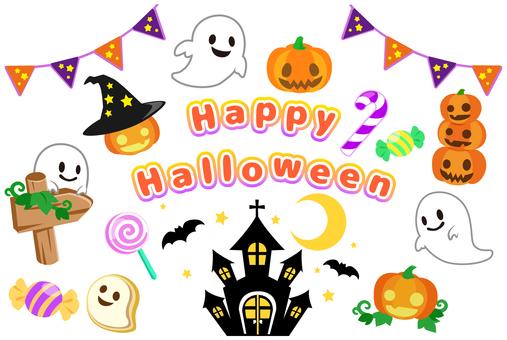 Halloween illustration icon set
