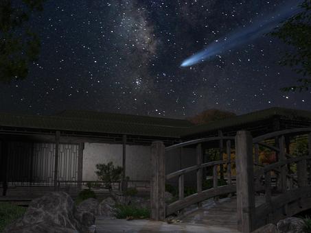 夜空和花園流星,彗星