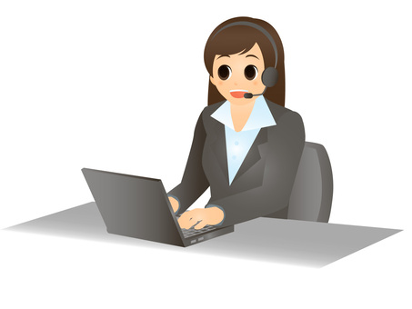 Business / laptop computer and woman 2