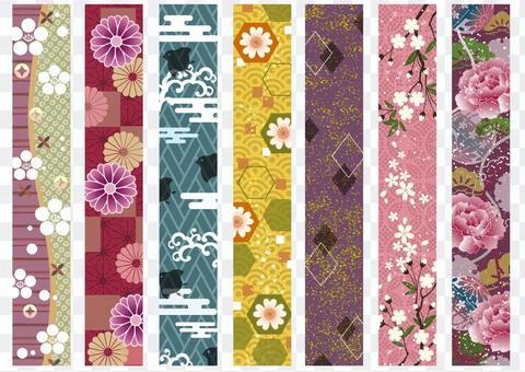Japanese style Japanese pattern Kazari line 06