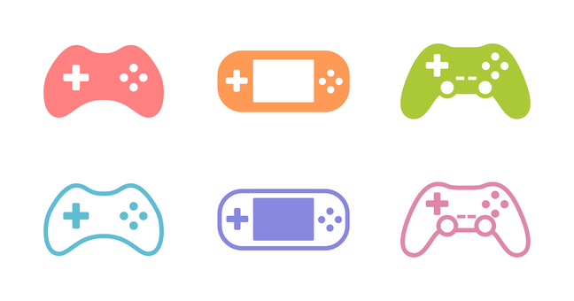 Game controller colorful icons