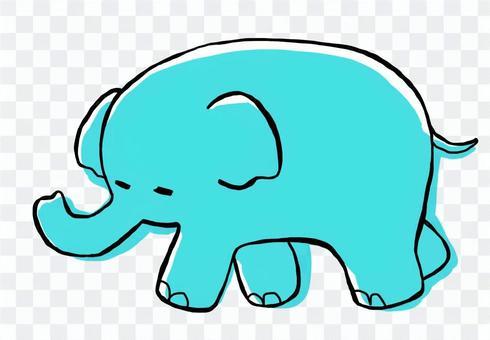 大象(淺藍色)