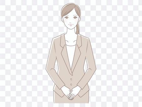 穿西裝的女人