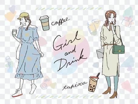 喝酒的女孩