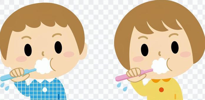 Toothbrushing Boys Girls 2