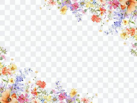 花框架 -  jinias和飛燕草的裝飾框架
