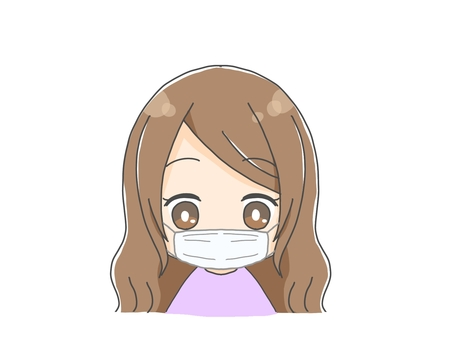 Pretty girl in mask