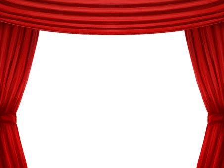 紅色窗簾框A