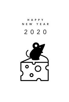 新年賀卡奶酪和老鼠01