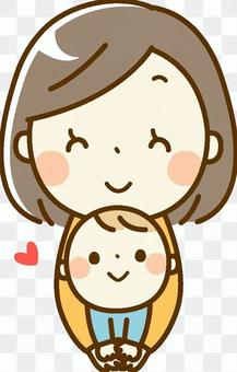 寶貝和媽媽_微笑
