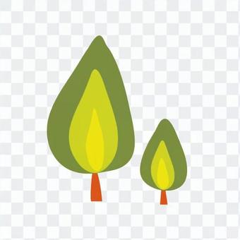 Scandinavian trees (green, drop type, multiple)