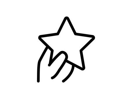 帶星星的手形圖標