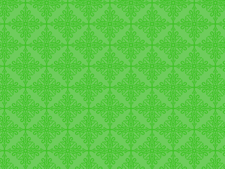 Antique style pattern 64 green