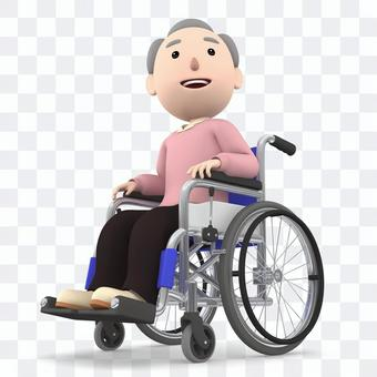 Wheelchair old man 02