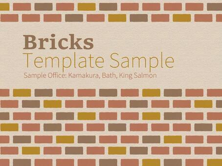 Business template western style brick pattern