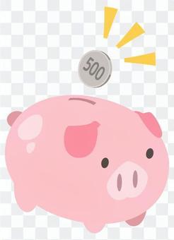500日元儲蓄_豬存錢罐(1張_2