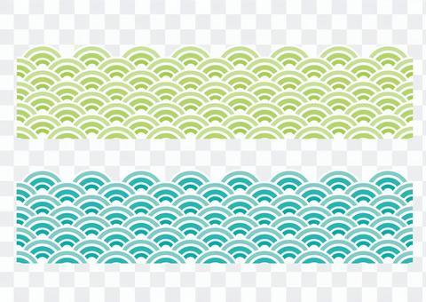 波浪圖案_綠色