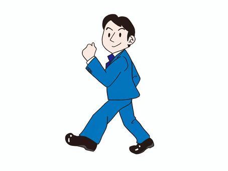 Guts pose businessman