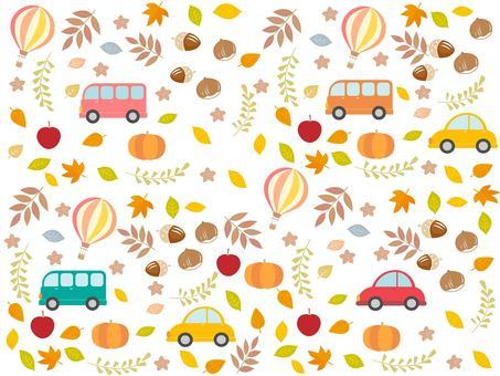 Autumn vacation Konoha and car