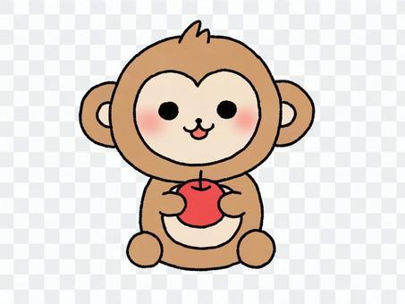 一隻鬆散的猴子的插圖