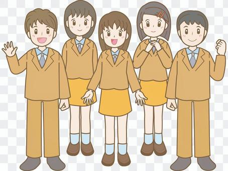 Student line A