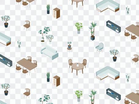 Isometric_Furniture_Pattern