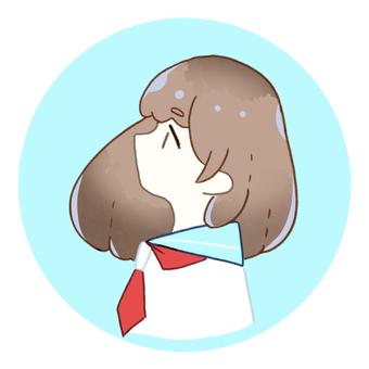 SNS icon [profile sailor suit]