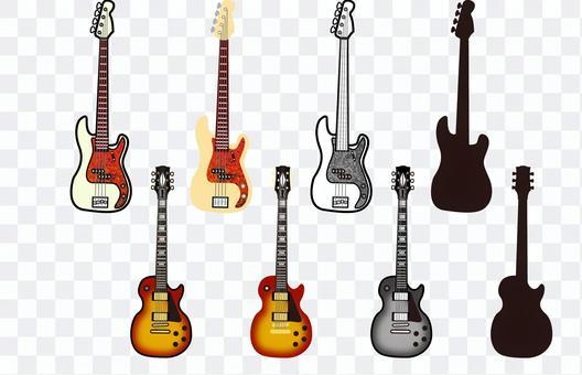 基於吉他的插圖