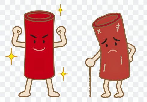 好的血管壞血管