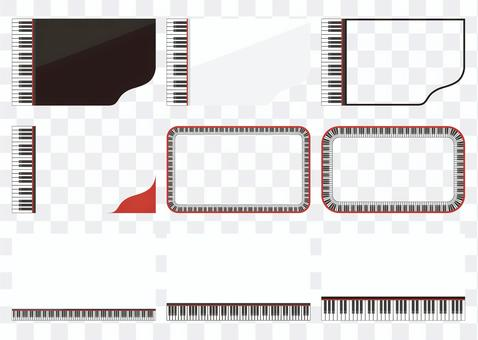 Business card size ram with a piano motif
