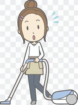 新妻子的家庭主婦d  - 吸塵器 - 全身