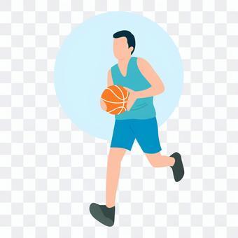 打籃球的男人