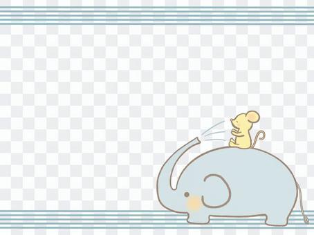 大象和鼠標框線