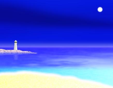 The moonlit sea